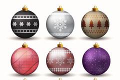 9款精美立体圣诞吊球矢量素材