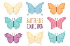 11款彩色蝴蝶矢量素材