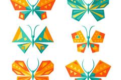 9款创意几何蝴蝶设计矢量素材