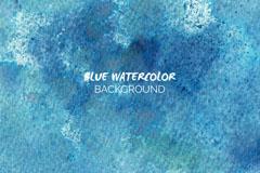 蓝色水彩质感背景矢量素材