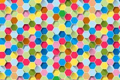 彩色蜂窝形无缝背景矢量素材