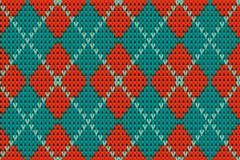 彩色针织菱形背景矢量素材