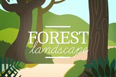 创意树林风景矢量素材