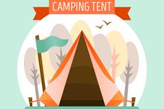 创意野营帐篷设计矢量素材