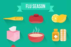 9款创意流感季图标矢量素材