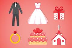 9款精致婚礼图标矢量素材
