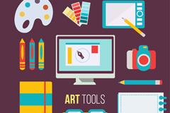 10款彩色设计工具矢量素材