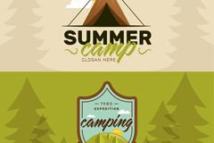 2款夏季野营banner矢量素材