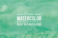 绿色水彩背景矢量素材