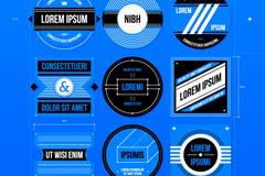9款时尚设计蓝本标签矢量素材
