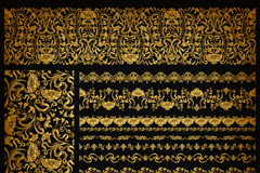 12款质感金色花纹花边矢量素材