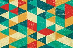 复古三角形拼接背景矢量素材