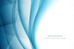 蓝色质感律动曲线背景矢量素材