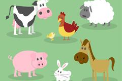 7款可爱农场动物矢量素材