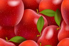 红色苹果无缝背景矢量素材