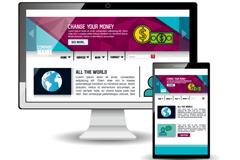 创意电脑和手机宣传页设计矢量素