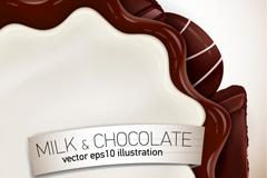 创意花形牛奶巧克力矢量素材