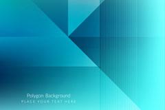 时尚蓝色几何形背景矢量素材