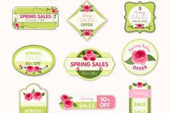 10款春季促销标签矢量素材