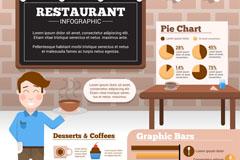 创意餐厅商务信息图矢量素材