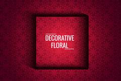 红色装饰花纹背景矢量素材