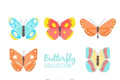 8款彩色蝴蝶设计矢量素材