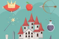 9款童话故事元素矢量素材