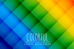 彩虹色菱形格纹无缝背景矢量图