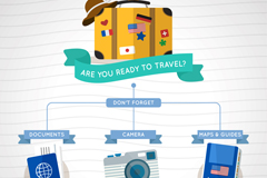 创意假日旅行元素信息图矢量素材
