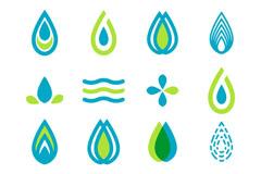 16款迷你水滴标志设计矢量素材