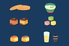 8款精致阿拉伯食品矢量素材