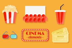 8款彩色电影元素矢量素材