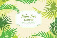 绿色棕榈树叶背景矢量素材