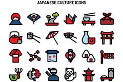 30款创意日本文化图标矢量素材