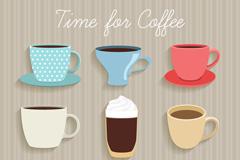 9款美味咖啡杯设计矢量素材