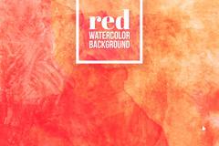 红色水彩涂鸦背景矢量素材