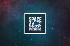 创意蓝黑色太空背景矢量素材