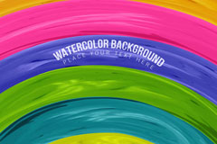 拱形彩虹条纹背景矢量素材