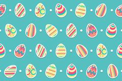花纹彩蛋无缝背景矢量素材