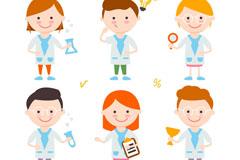 6个卡通科学儿童矢量素材