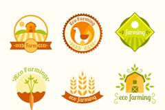 9款彩色生态农耕标签矢量素材