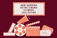 7款复古怀旧电影元素矢量素材
