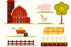 10款彩色农场元素矢量素材