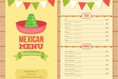 创意墨西哥餐馆菜单矢量素材