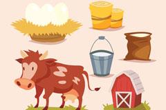 6款创意农场产品元素矢量素材