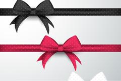 3款装饰用蝴蝶结丝带矢量素材