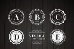 8款创意字母标志设计矢量素材