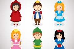 6款童话故事儿童角色矢量素材