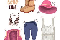 6款时尚夏季服饰单品矢量素材