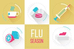8款流感季节元素图标矢量素材